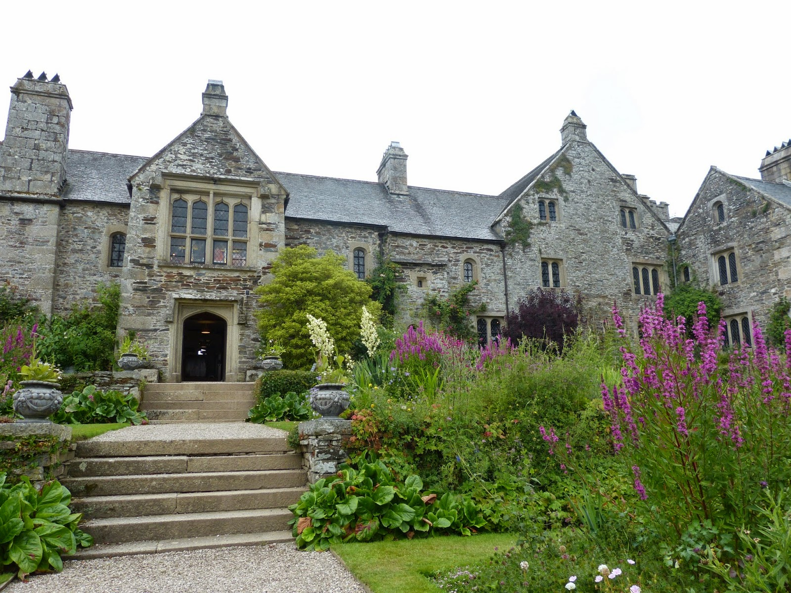 Cotehele from the garden