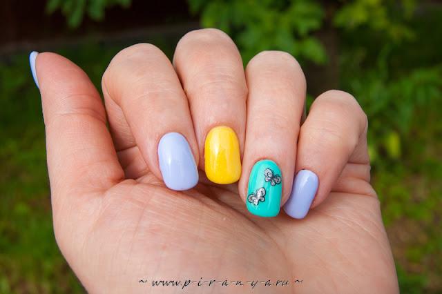 Яркий летний маникюрчик - наталия пономарева новодвинск p_i_r_a_n_y_a Пираньино гнездо
