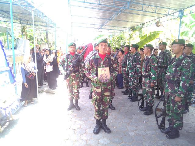 Kodim Klaten Beri Penghormatan Terakhir Kepada Serka Marinir (Purn) Pardi Pejuang PKRI
