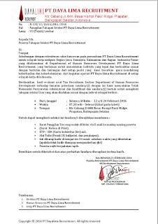 Waspadalah Terhadap Penipuan Yang Mengatasnamakan PT Daya Lima Recruitment, Silahkan Share..!!