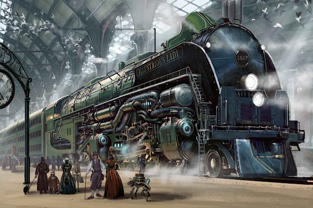 fantasy train wallpaper