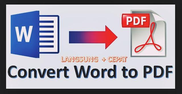 cara mudah convert word to pdf