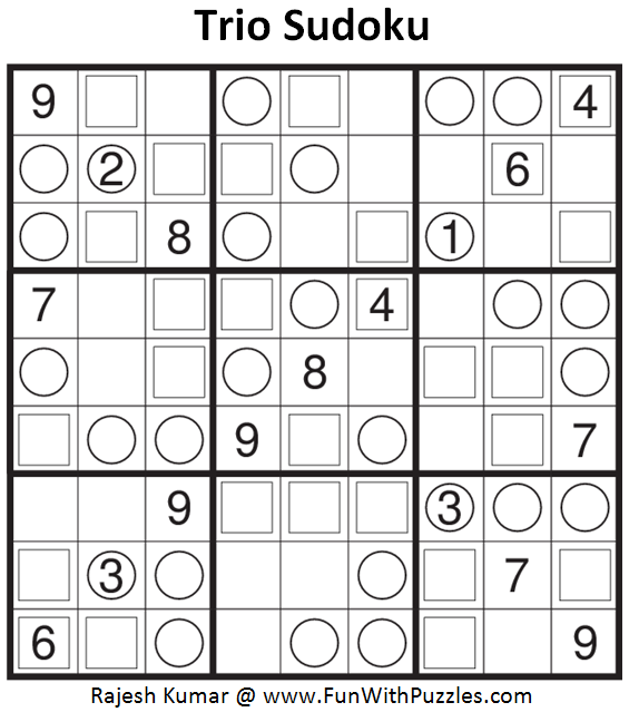 Trio Sudoku (Fun With Sudoku #85)