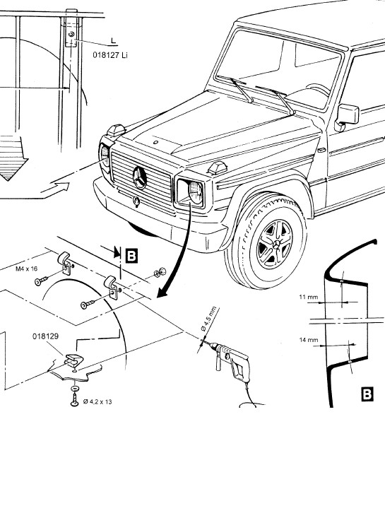 Manual Download: Mercedes G class Head Light Protection
