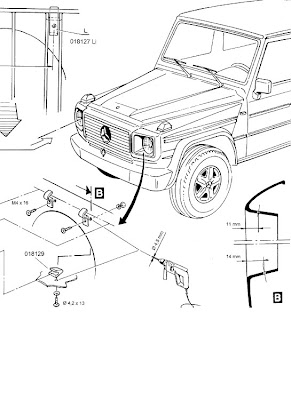 Mercedes G class Head Light Protection installation manual