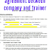 agreement between company and trainer