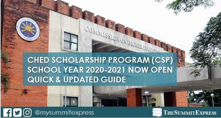 CHED Scholarship Program now accepts online applications for SY 2020-2021