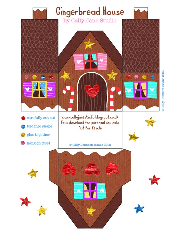 We Love to Illustrate: *FREE gingerbread house download!