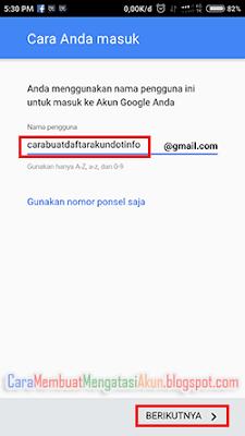contoh buat akun google lewat hp