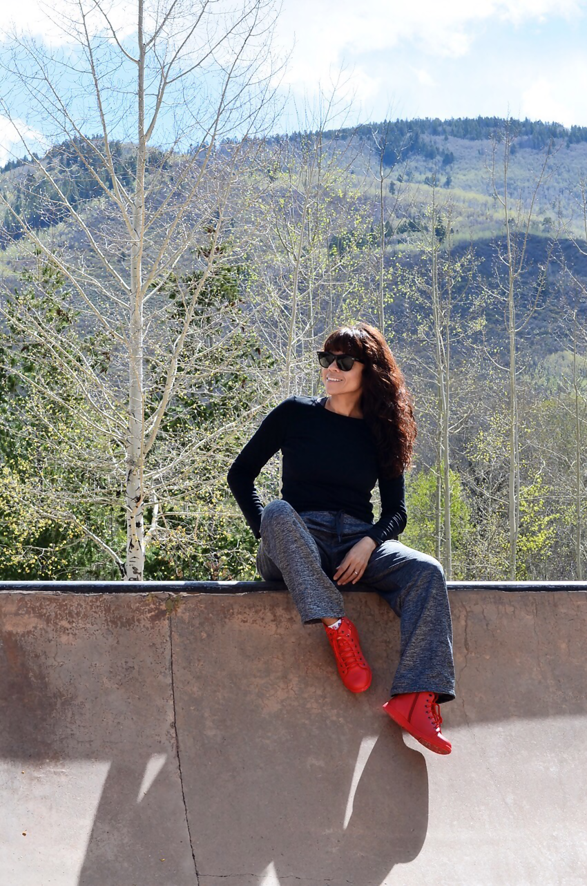 Travel Fox Red Sneakers