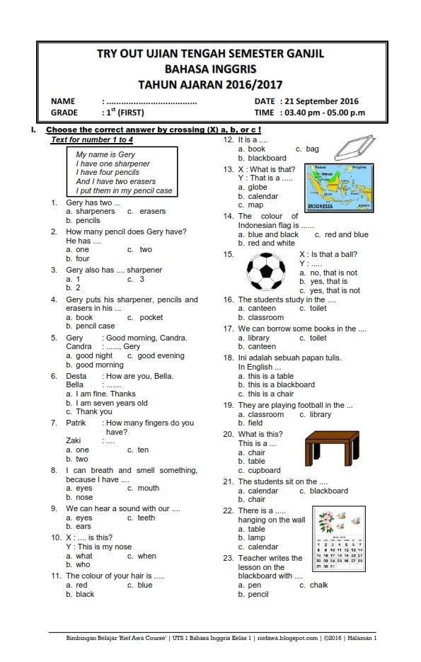 Latihan Soal Uts Sd Kelas Www Banksoal Web Id Soal Latihan Bahasa Indonesia Sd Latihan Soal