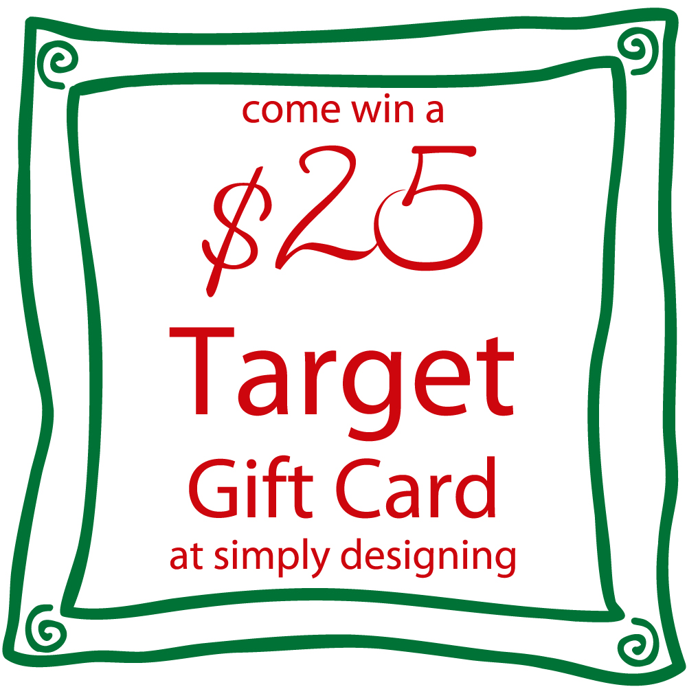 $25 Target Gift Card Giveaway at Simply Designing