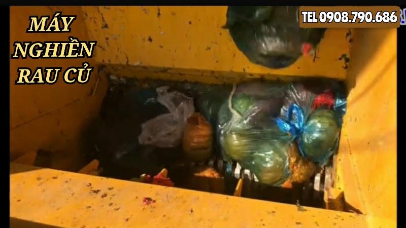 Máy xay rác hữu cơ tươi rau củ quả