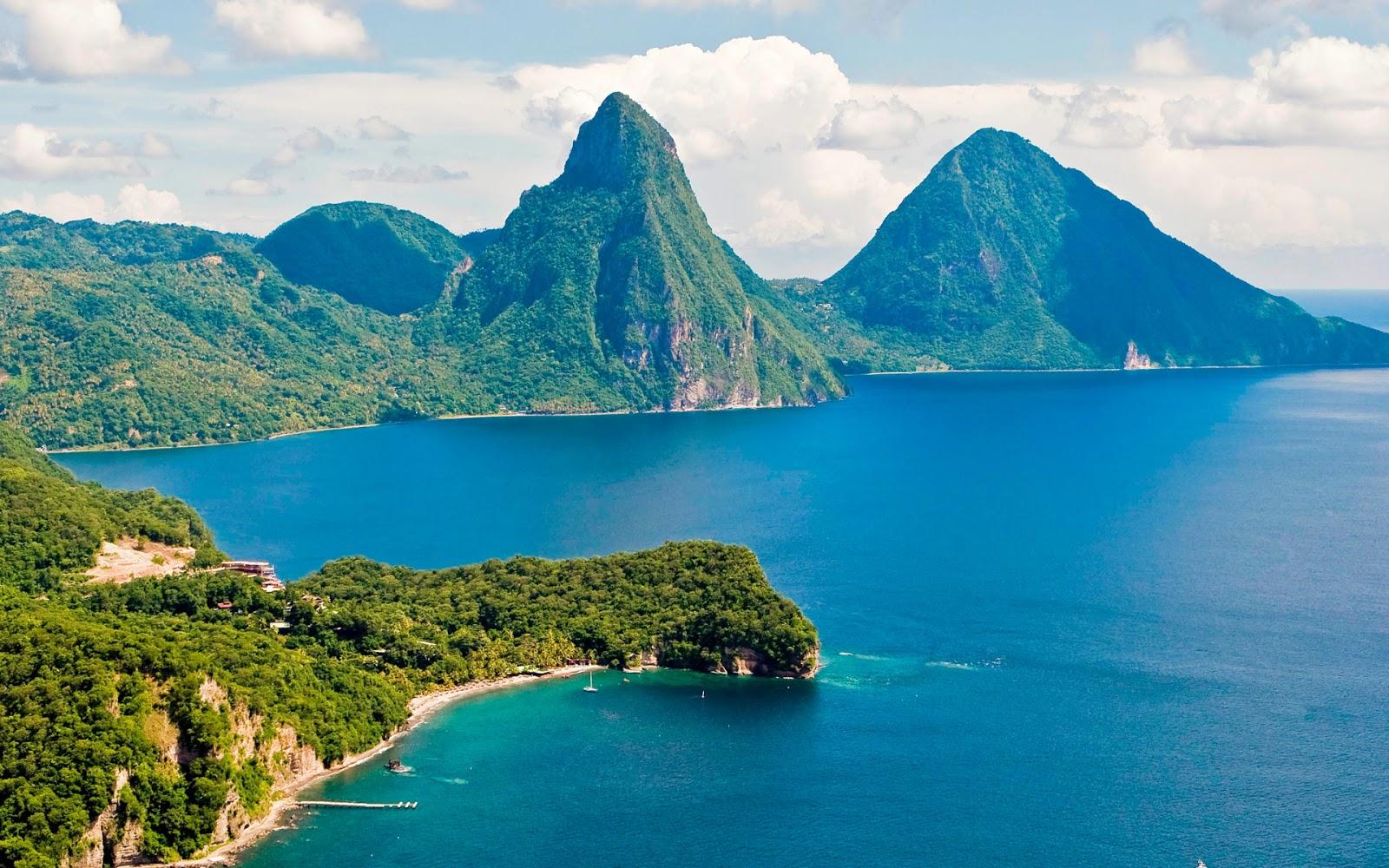 "St Lucia Caribbean: Island Of Saint Lucia, Caribbean Island (""The Land, The"