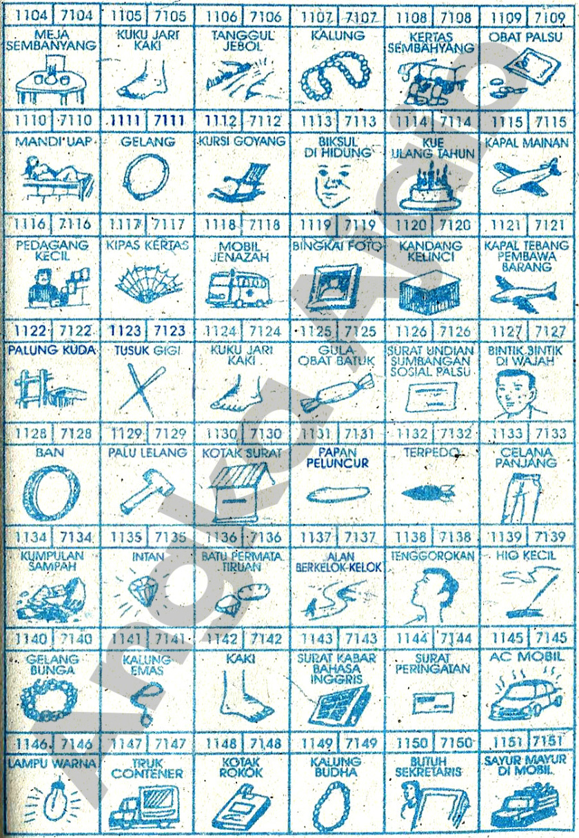 Buku Mimpi 4D Bergambar 1104-1151