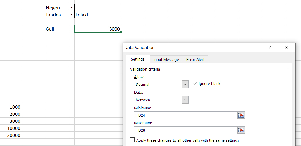 Cara Cara Membuat Data Validation Di Excel