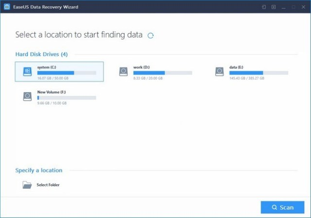 EaseUS Data Recovery Wizard, a powerful way to restore important lost Data