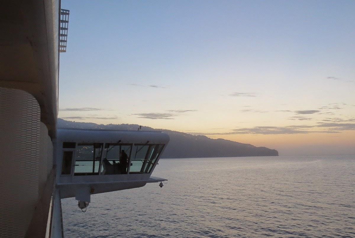 Blick auf Funchal, Madeira von der Celebrity Silhouette aus