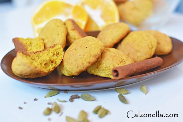 ciasteczka dyniowe, z kardamonem i pomarańczą