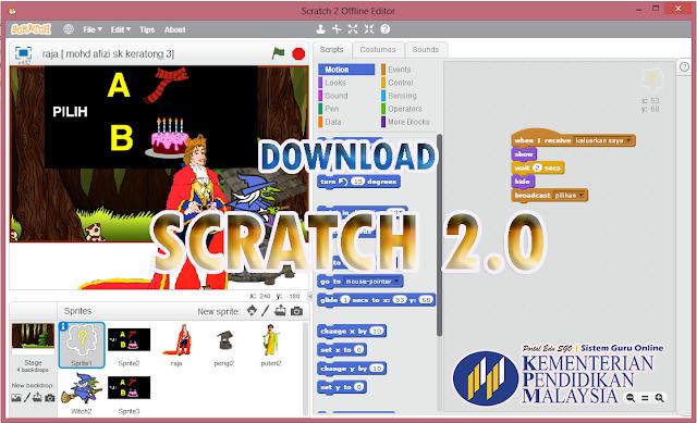 Download Software SCRATCH & Contoh Menggunakannya Bagi Subjek Teknologi Maklumat Komunikasi TMK Tahun 6
