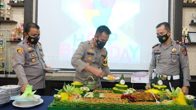 Kapolres Tanjung Balai Pimpin Syukuran HUT Polantas Ke - 66