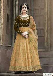 Elegant Georgette Embroidered Anarkali Suits