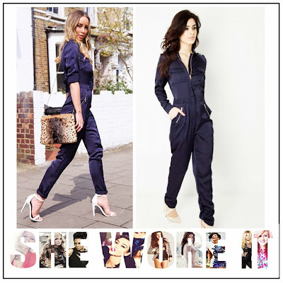 Daisy Street, Jumpsuit, Lauren Pope, Long Sleeve, Navy Blue, Pocket Detail, Tapered, The Only Way Is Essex, TOWIE, Zip Detail, Zip Up,