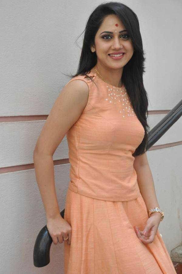 Miya George Stills In Pink Dress