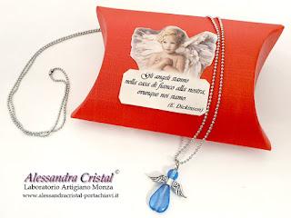 regalo natale catena angelo