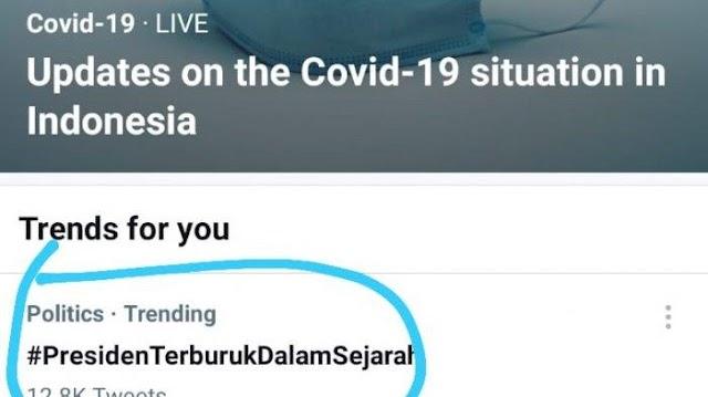 Heboh! Tagar 'Presiden' Terburuk Dalam Sejarah Muncul dan Trending di Twitter