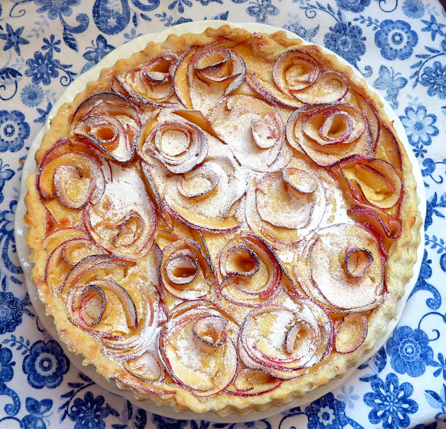 Apple & Cardamom Custard Tart