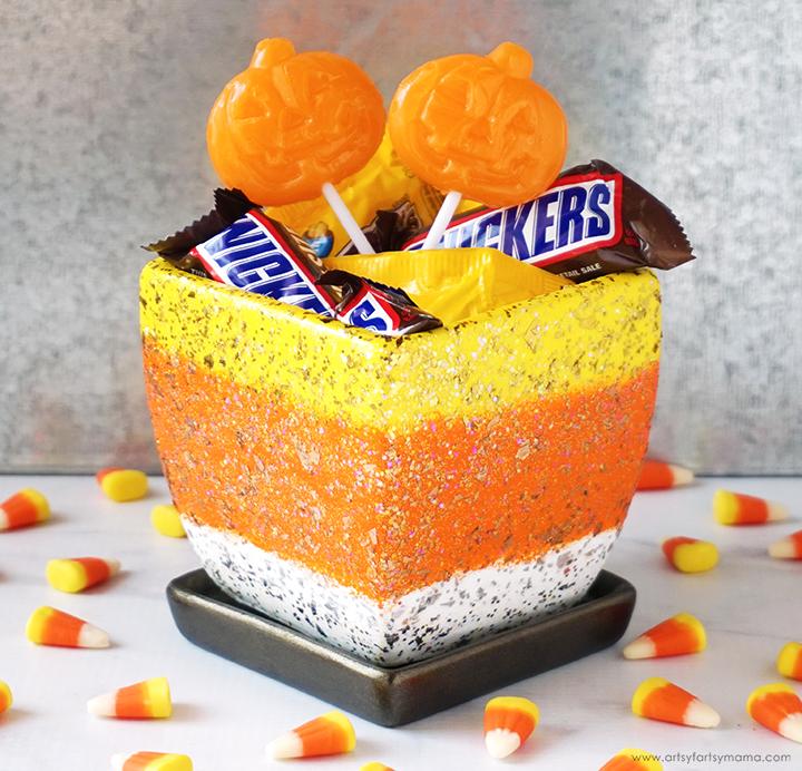 Halloween Candy Corn Bowl