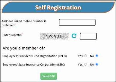 E-shram card online apply