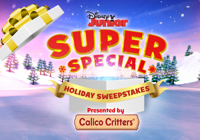 Enter the Disney Junior Sharing Is Caring Holiday Sweepstakes and you could win a Calico Critters Prize Pack worth more than $1000 or other prizes!