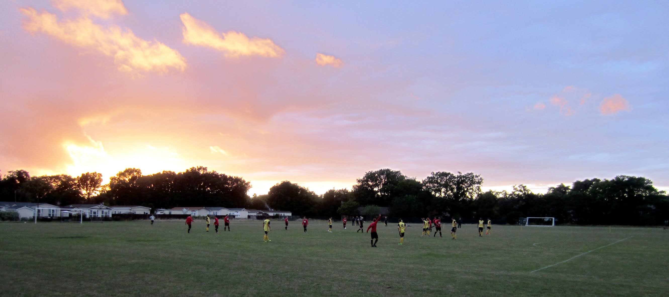A sunset at the Alfred Palmer Memorial Recreation Ground