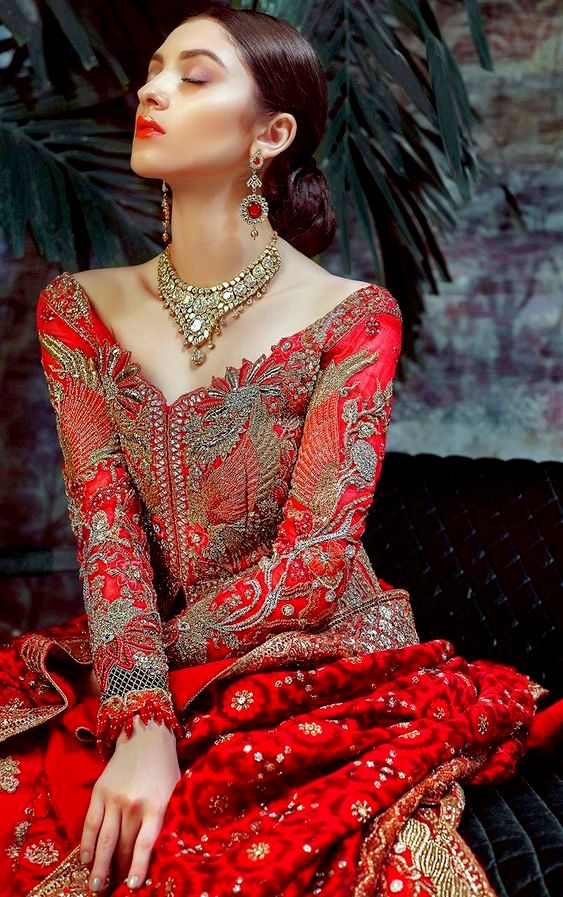 Beautiful Fashionable Bridal in Red Dress