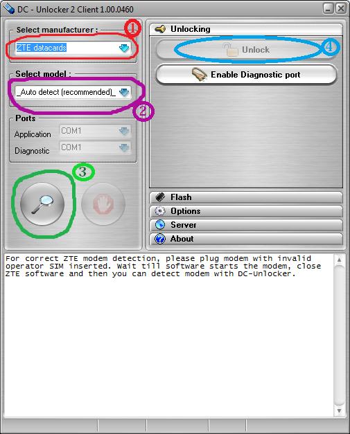 How to Unlock ZTE MF 190 / MF180 / MF110 / MF673u ~ NEW ALGO