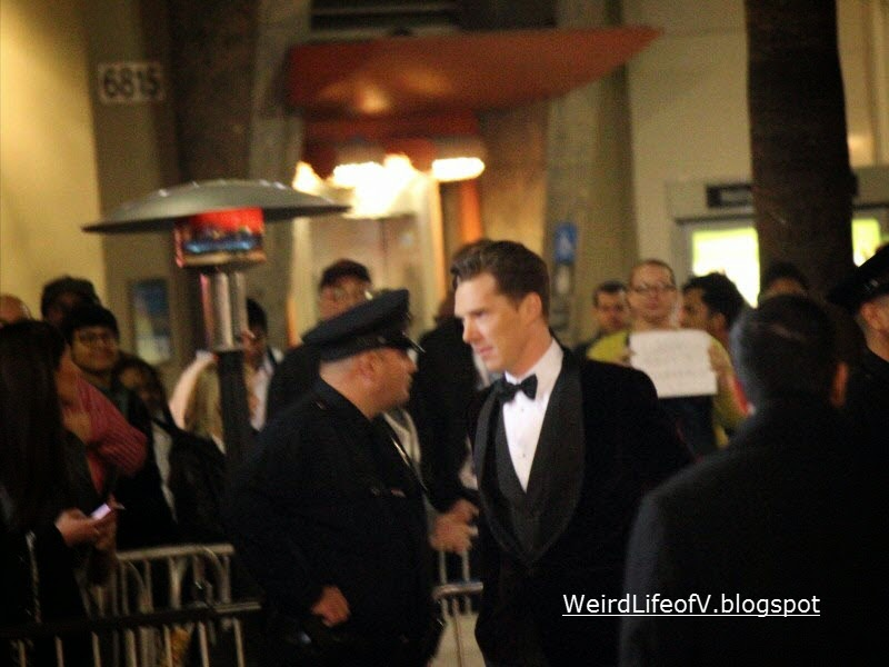 Benedict Cumberbatch arriving to premiere.