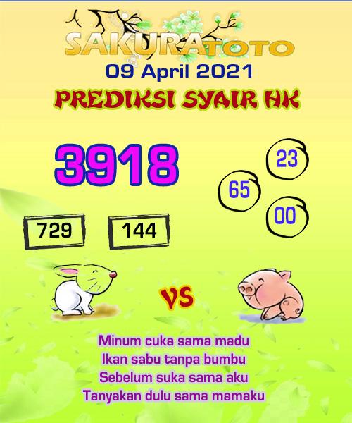 Syair HK Jumat 09 April 2021 -