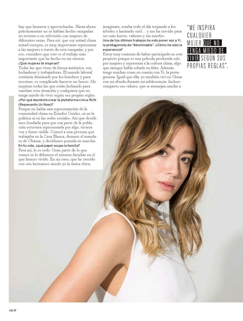 Chloe Bennet Featured In Woman Madame Figaro Magazine - April 2020 Issue