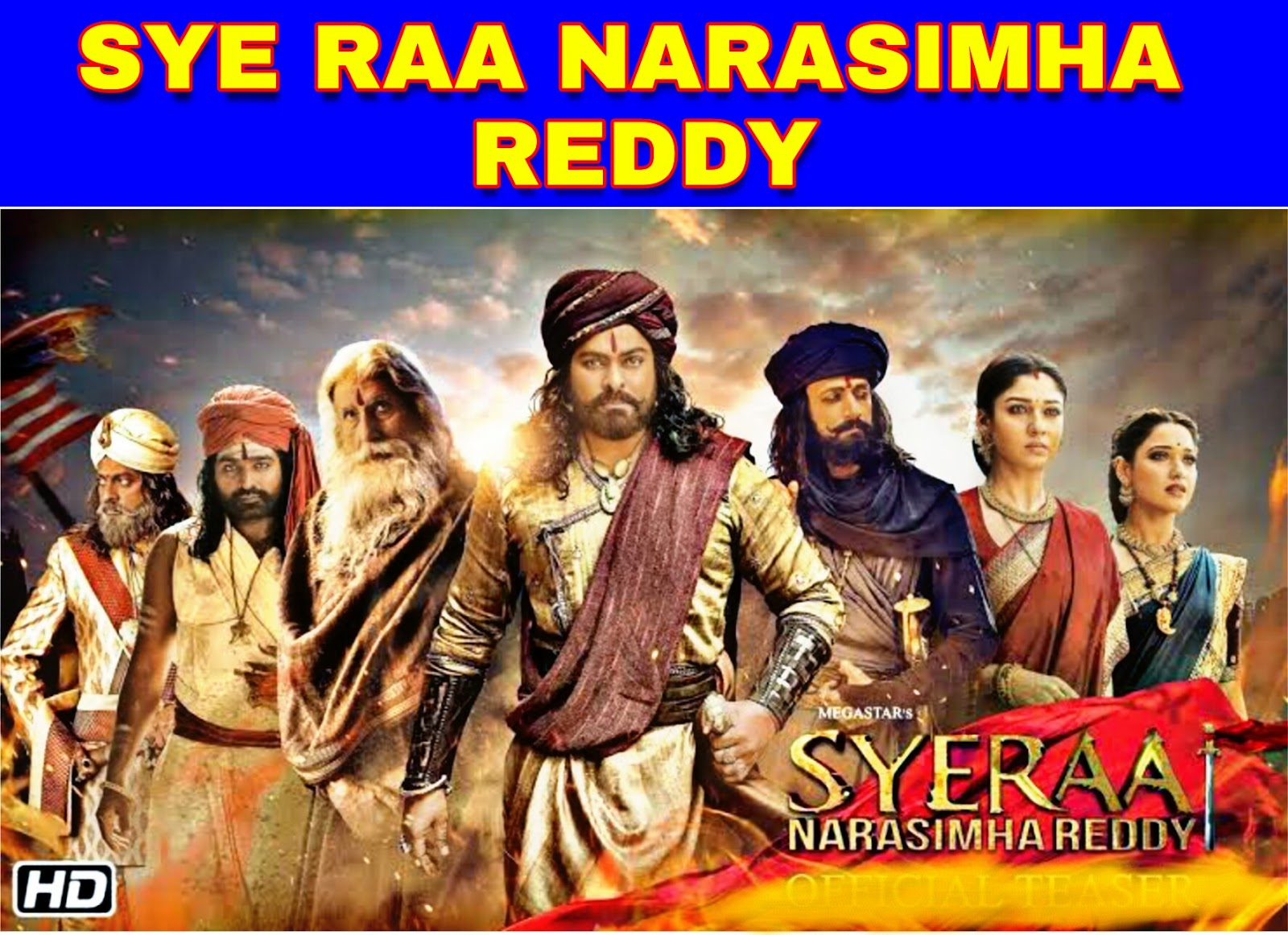Sye Raa Narasimha Reddy (Full Movie) Download Filmywap Hindi Dubbed Filmyzilla, mp4moviez, Jalshamoviez