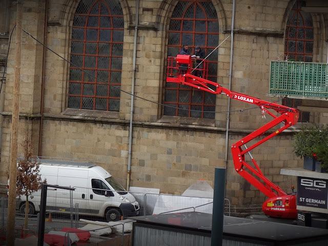 Les travaux sur les vitraux de l'Église Saint-Germain (18 Janvier 2021)