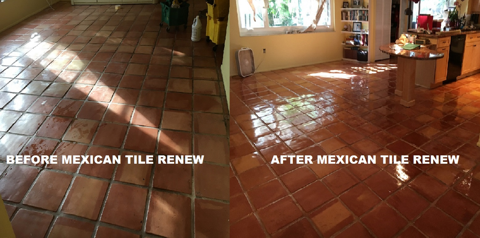 Mexican tile renew sarasota fl cleaning sealing mexican tile mexican tile renew project in englewood fl where there had been smoke damage to mexican tile and grout from a small fire dailygadgetfo Image collections