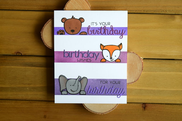 Purple Birthday Card by Jess Crafts featuring Create a Smile