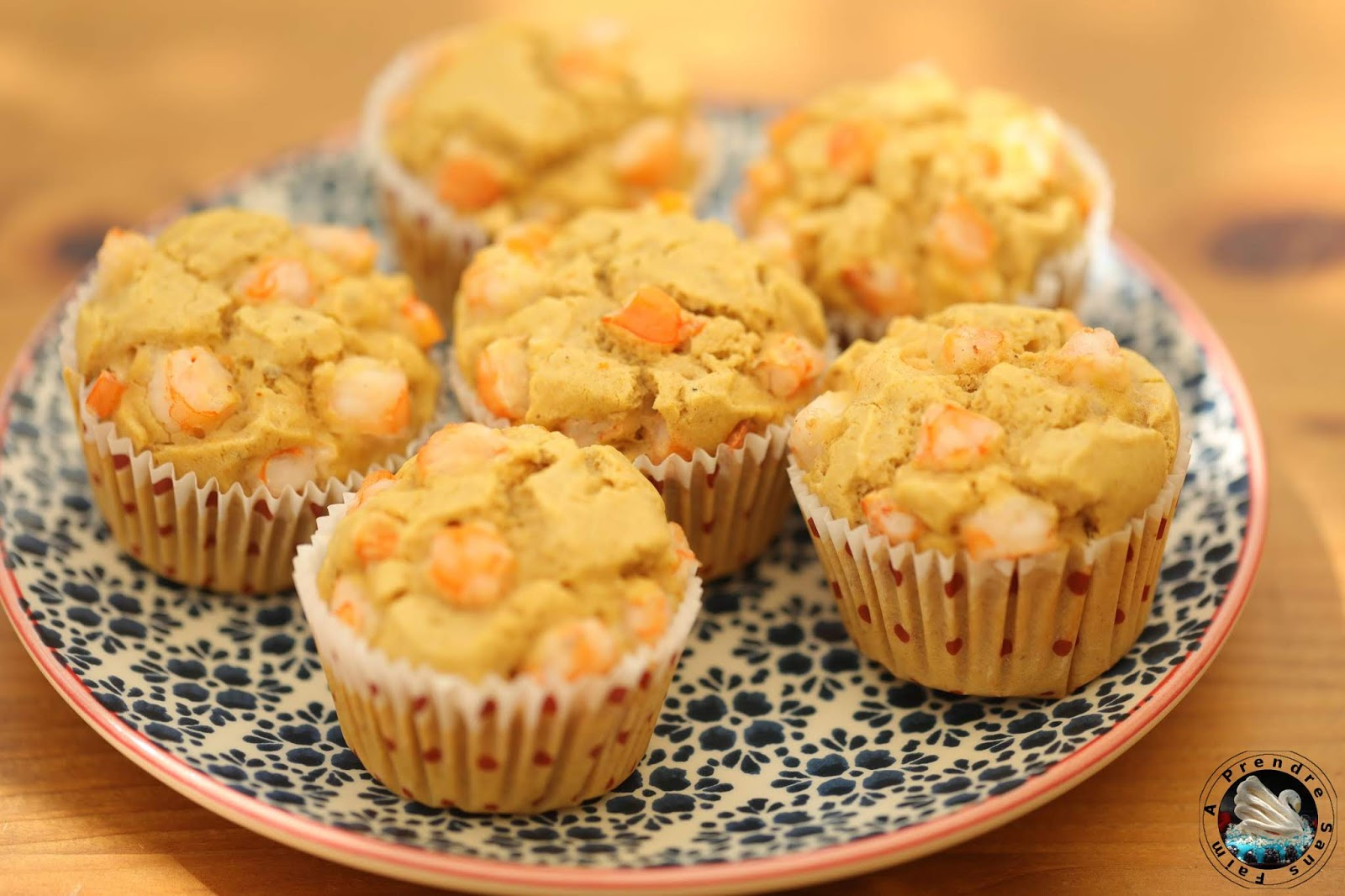Muffins aux crevettes et curry