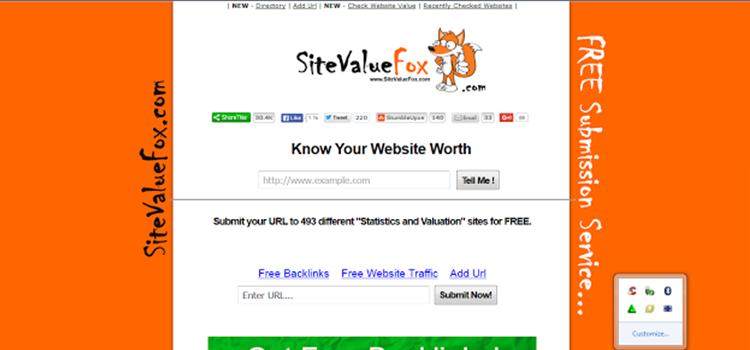 sitevaluefox.com homepage