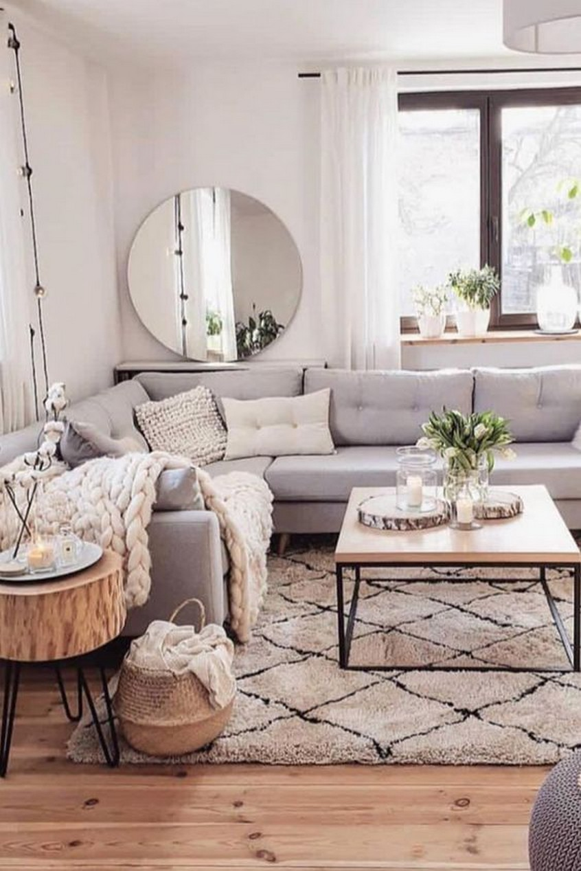 Comfy Living Room Decoration Idea With Farmhouse Style
