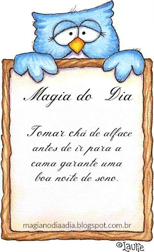 magia no dia a dia chá de alface