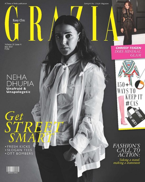 Neha Dhupia On The Cover of Grazia Magazine India July 2017