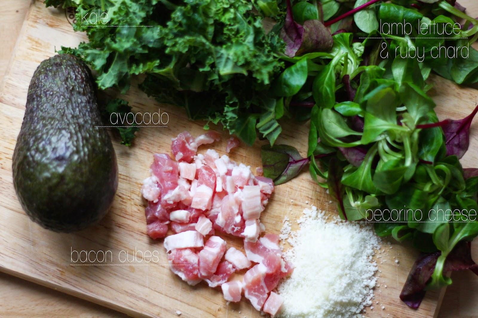 Baby kale & bacon salad